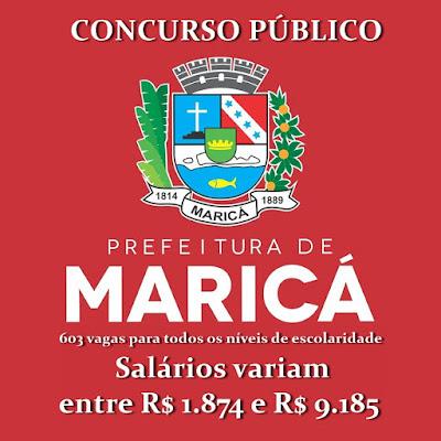 Edital Concurso Público Prefeitura de Maricá - RJ