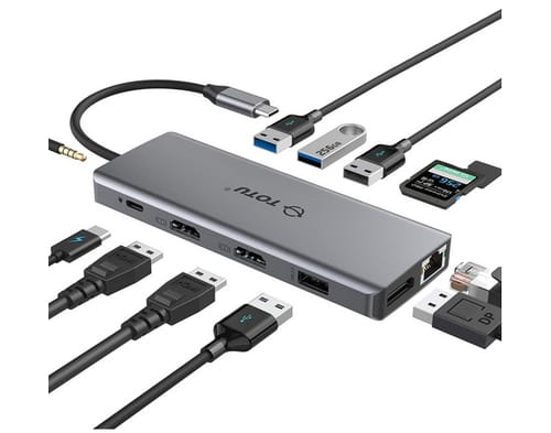 TOTU 13 in 1 Type C Hub Dongle Adapter USB C HUB