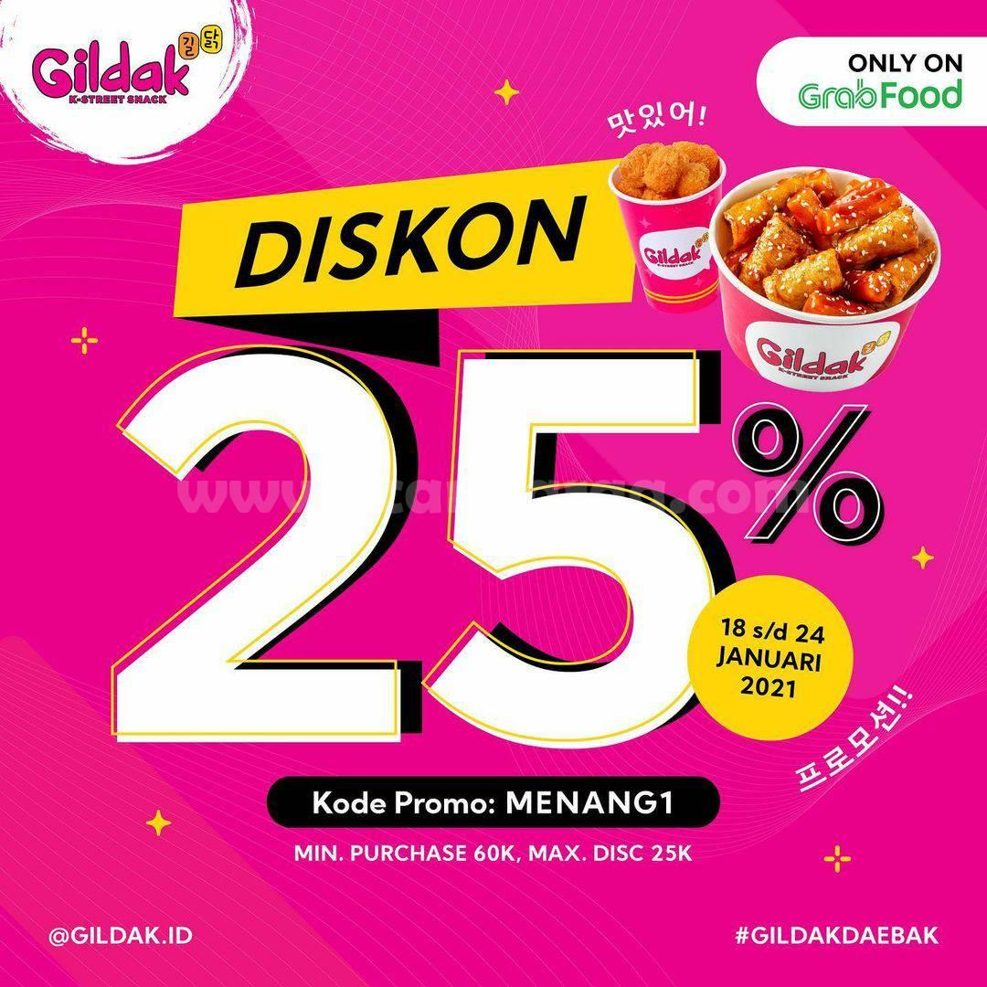 GILDAK Spesial Promo GRABFOOD! Dapatkan Diskon hingga 25%