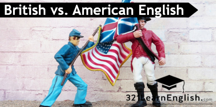 ESL vocabulary: British vs. American English (intermediate) (level: B1)