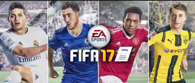 EA Sports FIFA 17 cover art representative football soccer players