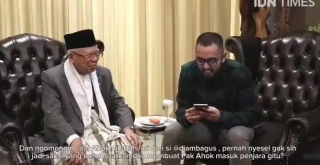 KH Ma'ruf Amin Mengaku Merasa Menyesal Jadi Saksi Kasus Ahok Karena Terpaksa & Sampaikan Minta Maaf