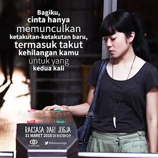 Gambar Kata Cinta dari Film Bioskop Raksasa dari Jogja