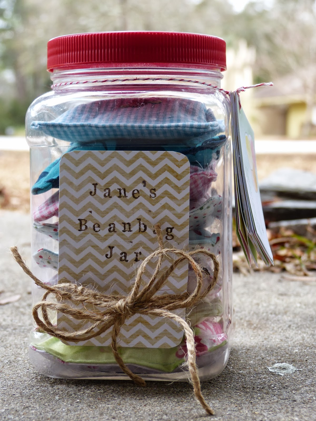 The Homespun Heart Birthday Gift Beanbag Jar
