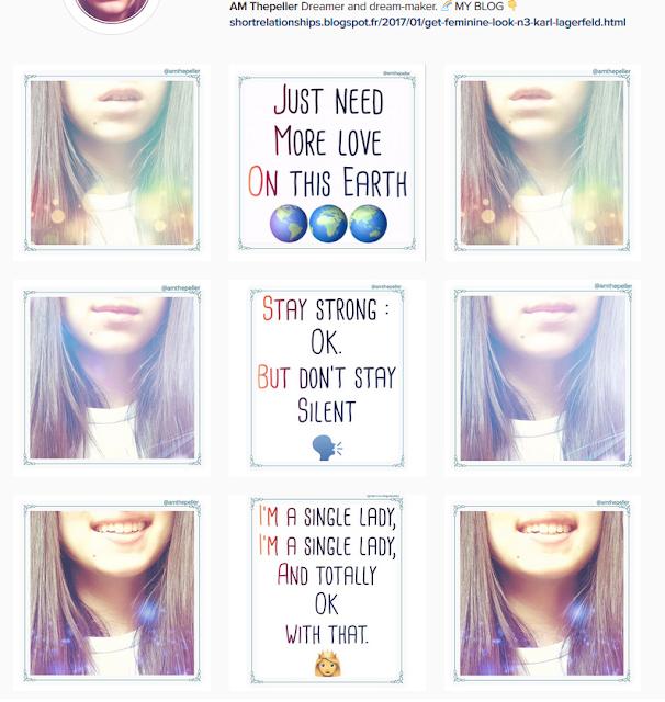 instagram gagner abonnés galerie ordonnée arc en ciel