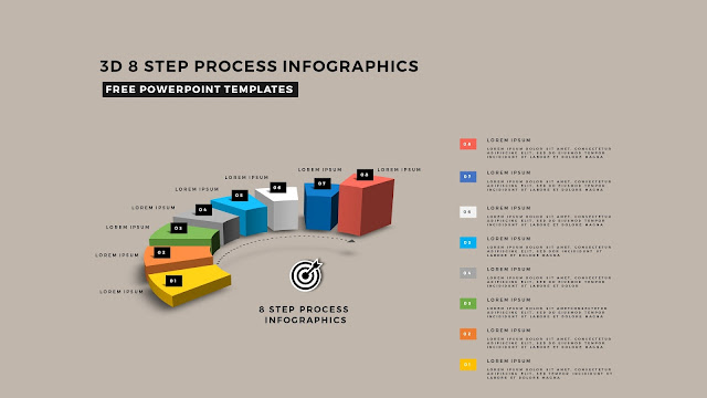 Multi Step 3D Circular Process Diagram Infographic Free PowerPoint Template Slide 13