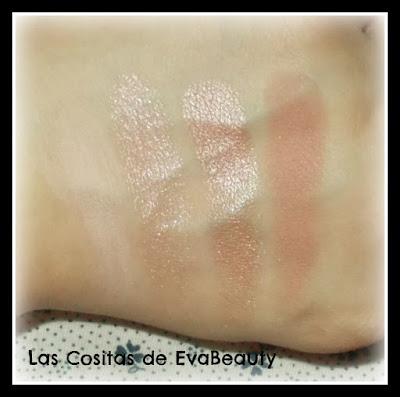 Paleta de sombras de ojos ROSE de Eveline Cosmetics swatches