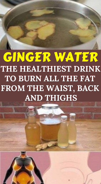 Ginger Water: the Healthiest Drink to Burn All the Fat from the Waist, Back and Thighs