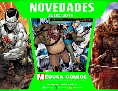 """Novedades julio 2019 de """"Medusa Cómics""""."""