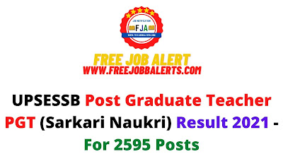 Sarkari Result: UPSESSB Post Graduate Teacher PGT (Sarkari Naukri) Result 2021 - For 2595 Posts