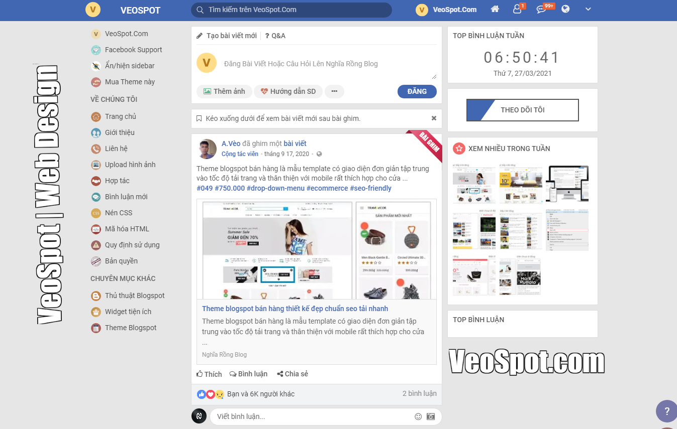 Template Blogspot Giống Facebook Parody Bản cũ, Đẹp Chuẩn SEO, Tải Nhanh