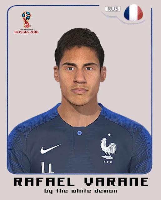 Rafael Varane Face PES 2018