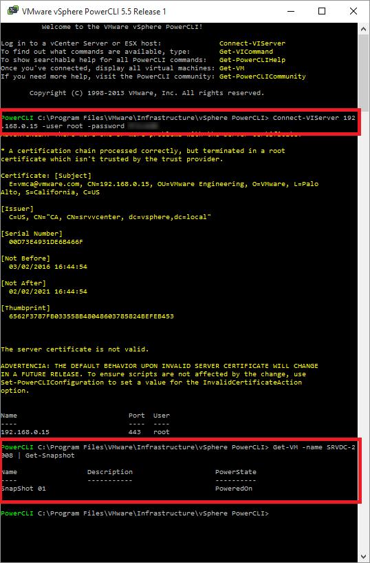 Get-VM –name SRVDC-2008 | Get-Snapshot