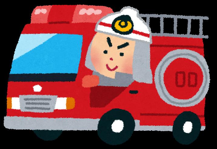 消防車に乗った消防士のイラスト かわいいフリー素材集 いらすとや