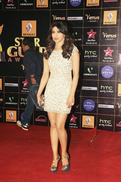 Priyanka Chopra in Glittery Mini-dress