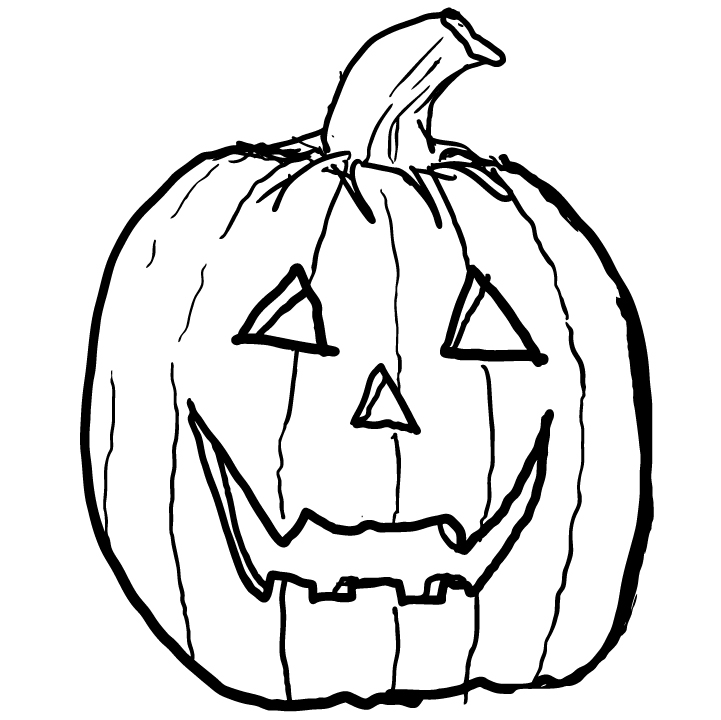 Pictures Of Happy Jack O Lantern Drawing