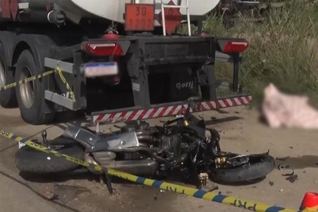 Motociclista morre após atropelar uma pessoa e bater no fundo de carreta em Itabuna