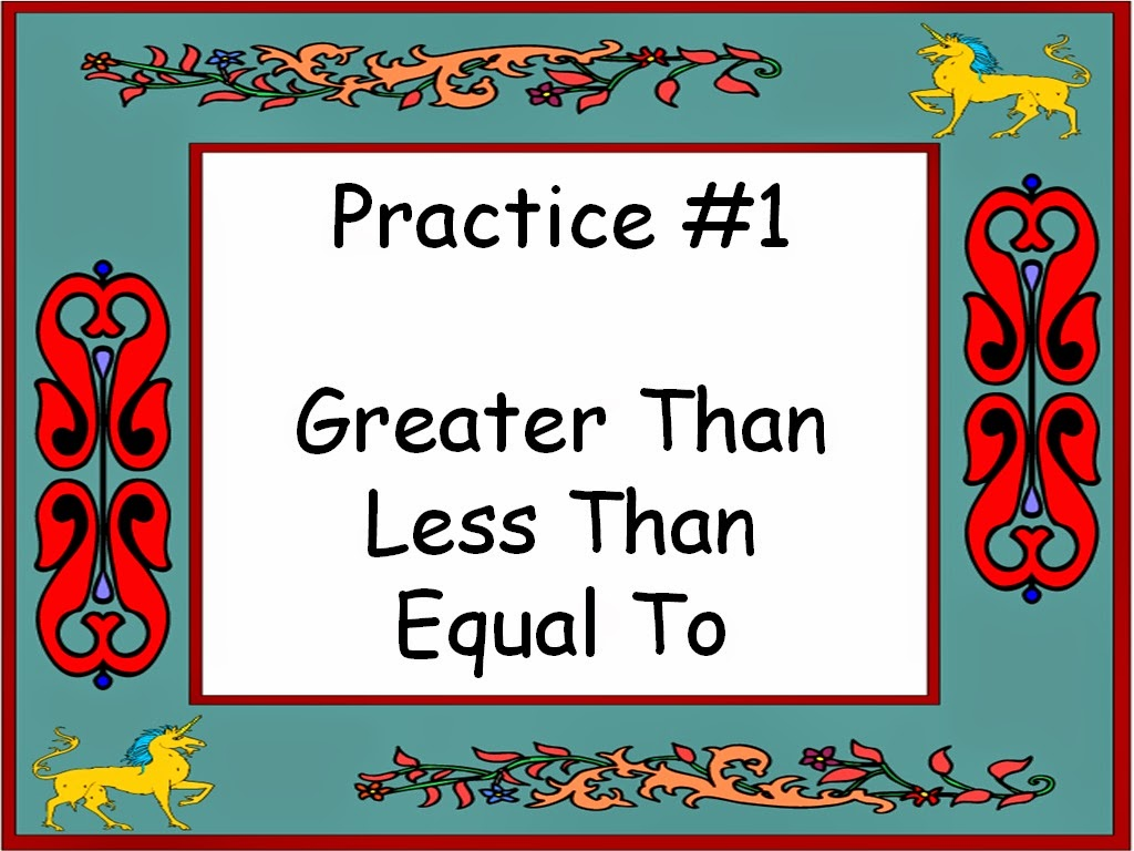 Student Survive 2 Thrive Math Practice Greater Than