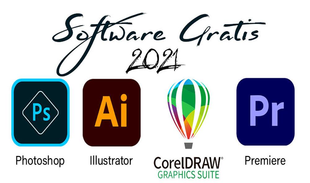 Photoshop, Illustrator, CorelDraw y Adobe Premiere 2021