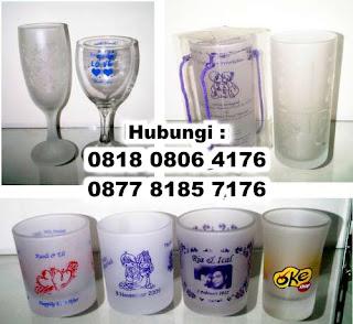 Jual Souvenir Gelas pernikahan dan promosi di tangerang