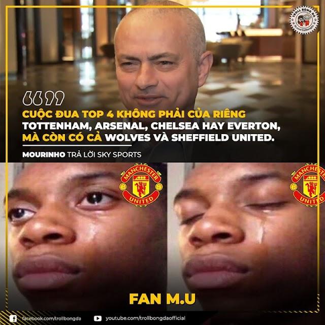 Biếm họa 24h: Mourinho gạt MU khỏi cuộc đua top 4 Premier League