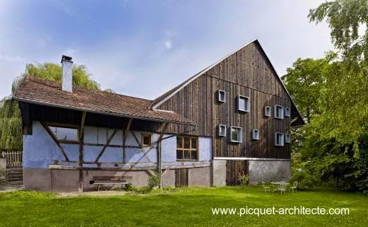 Casa de campo rediseñada en Francia