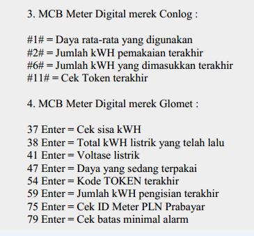√ Kode Meteran Listrik Prabayar Semua Merk Terbaru