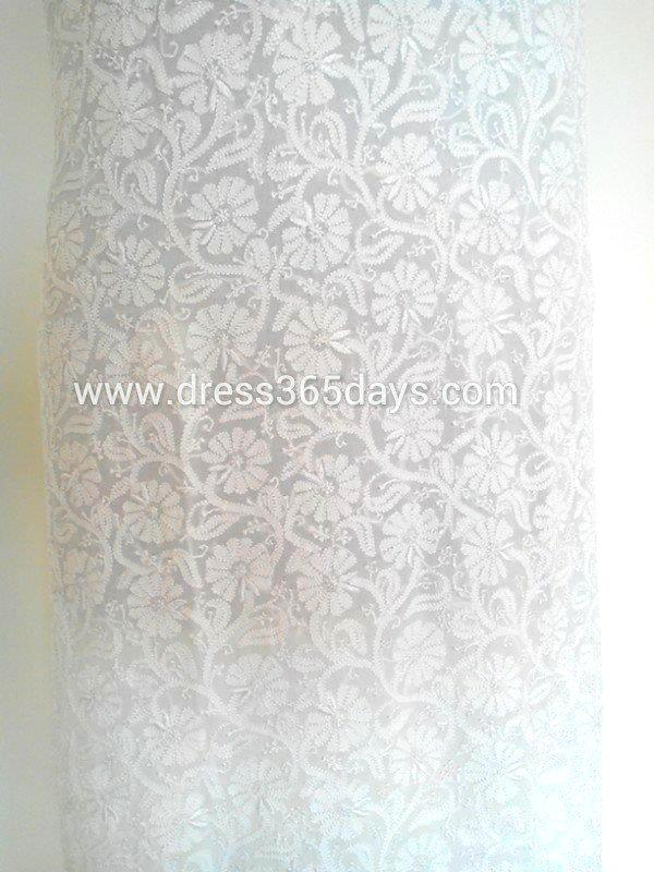 Lucknow Chikan Wholesale And Retail Pure Georgette Chikankari