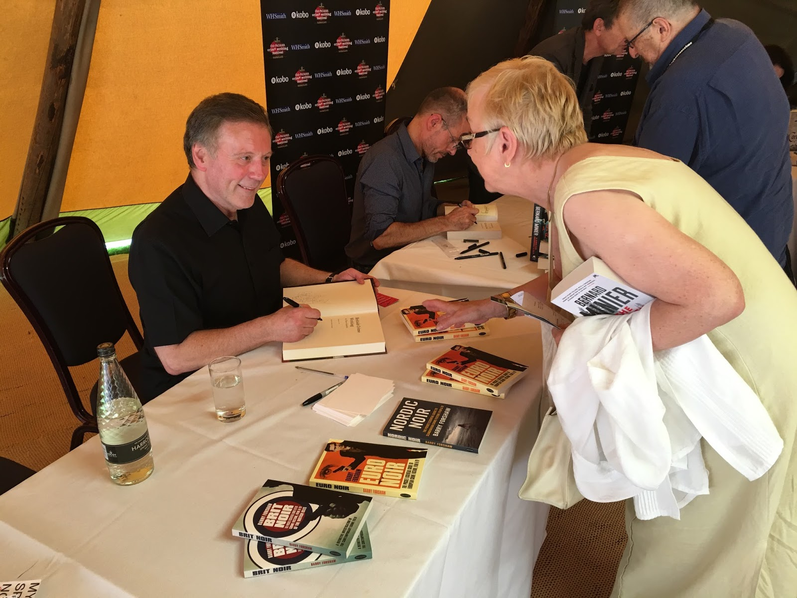 "Critic And Author Barry Forshaw Signs Copies Of His Growing €�noir"" Series  Of Guides To Modern Crime And Thriller Fiction"