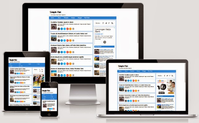 Simple Flat Responsive Blogger Template