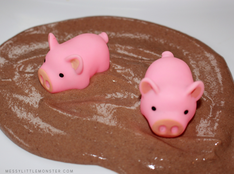 edible mud for farm small world sensory play for toddlers