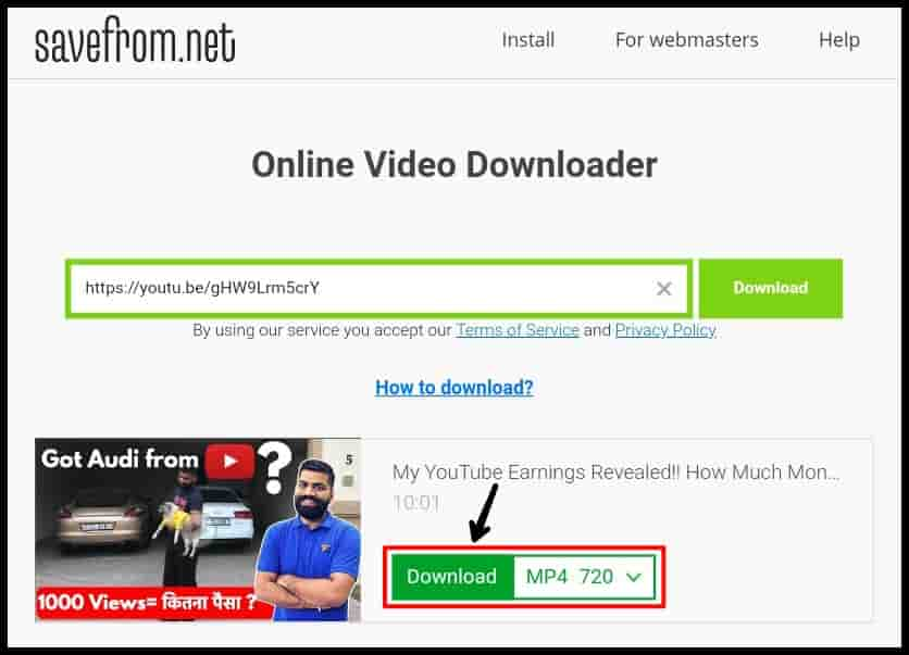YouTube Video Download App
