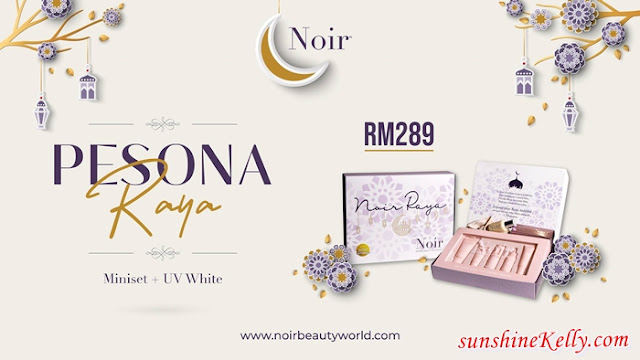 Pesona Raya NOIR 2021 Launch, Pesona Raya NOIR Miniset, UV White Foundation, Pure White, Iconic Set,  Madammu, Eriyca Baiduri, Noir Founder, beauty