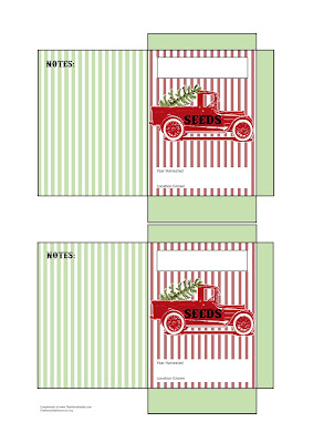free printable diy seed packet christmas