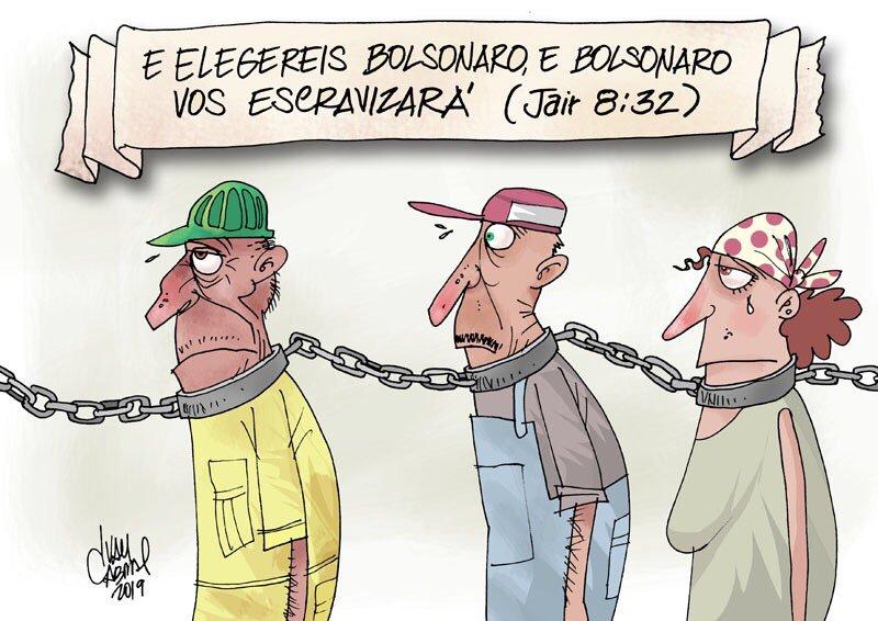 Resultado de imagem para escravidão charges