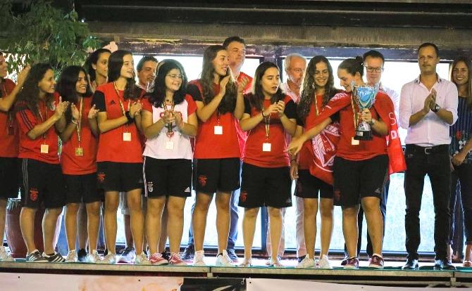 Benfica vencedor da Supertaça de Polo Aquático Feminino