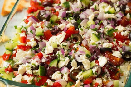 DELICIOUS GREEK SEVEN LAYER DIP RECIPES