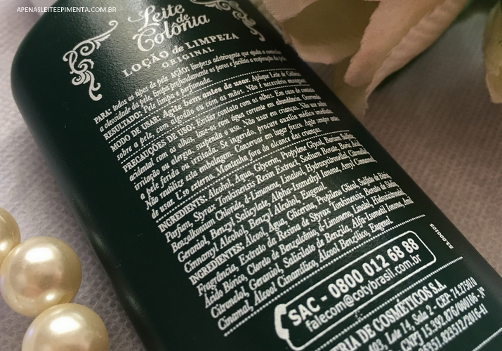 leite de colônia faz mal para a pele?