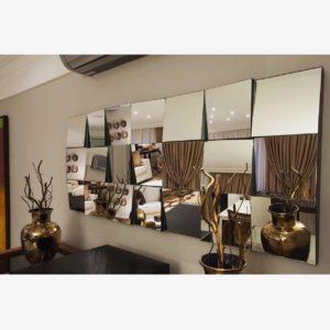 foto de espelho decorativo composição em 3D newartvidros
