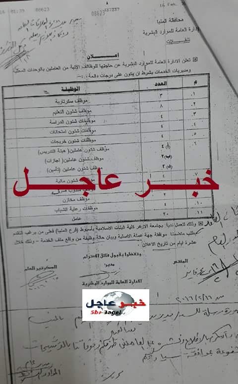 """اعلان وظائف جامعة الازهر"""" كلية البنات الاسلامية """" لجميع المؤهلات والتقديم لمدة عشرة ايام"""