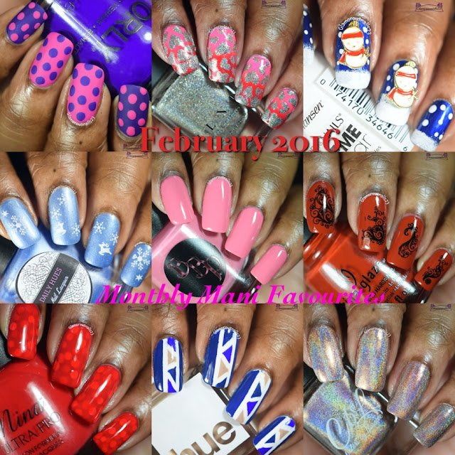 February 2016 Monthly Mani Favorites