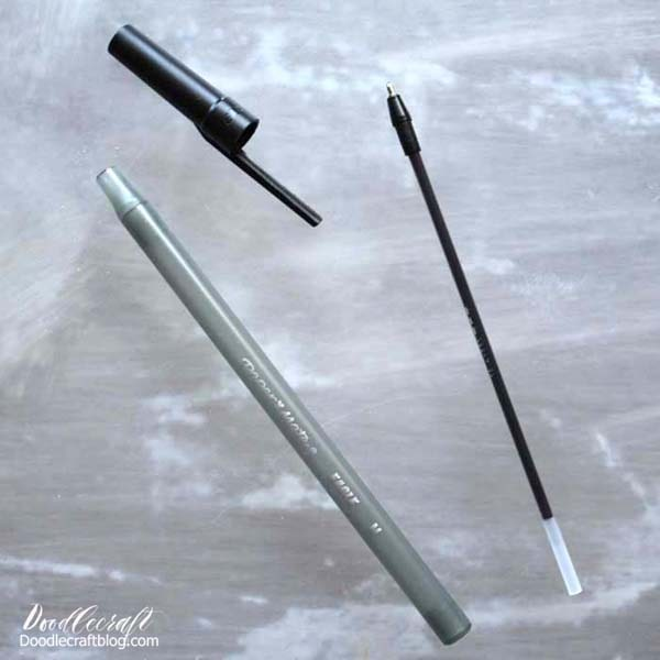 Cheap pens with removable ink