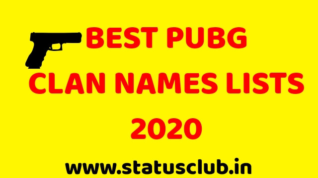 Best PUBG Clan Names Lists 2020.