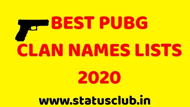 Best PUBG Clan Names Lists 2020 - Cool, Funny, Marathi.