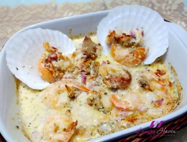 creamy baked seafood casserole recipe