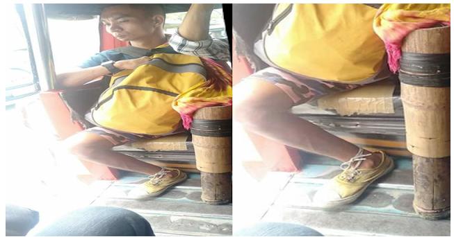Gumamit sya ng Kawayan na kanyang nagsilbing mga paa