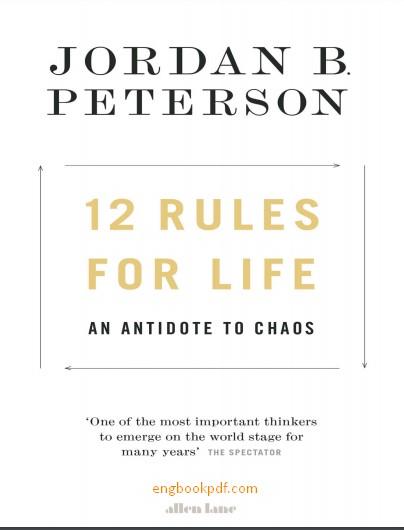 12 rules for life jordan peterson pdf