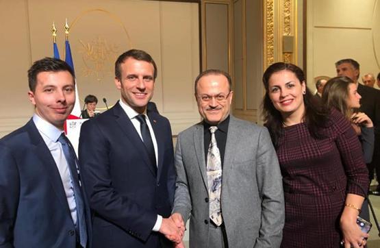 الرئيس الفرنسي يحتفي بطبيب سوري أنقذ شابا فرنسيا تعرض للاعتداء اليكم التفاصيل
