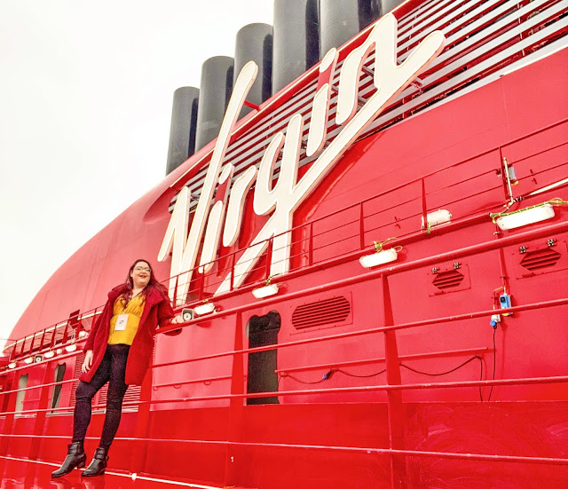 bristol plus size travel cruise influencer Virgin Voyages Scarlet Lady