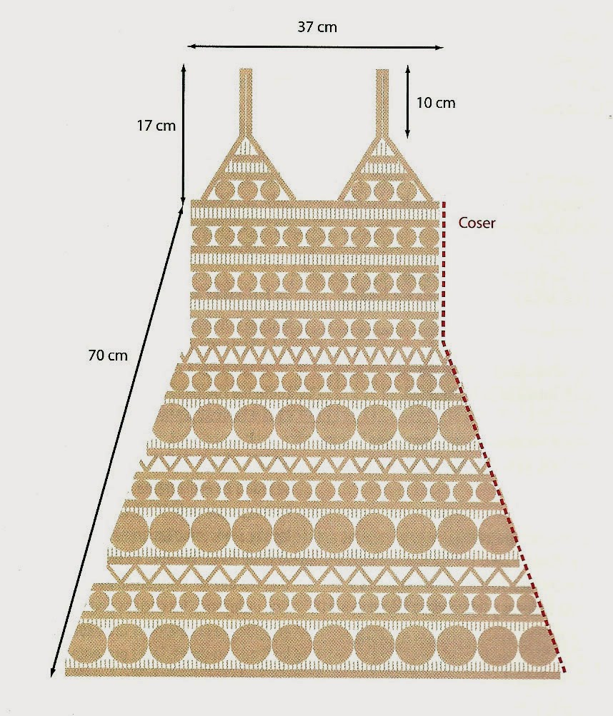 Fantástico Patrón De Crochet Vestido Fotos - Manta de Tejer Patrón ...